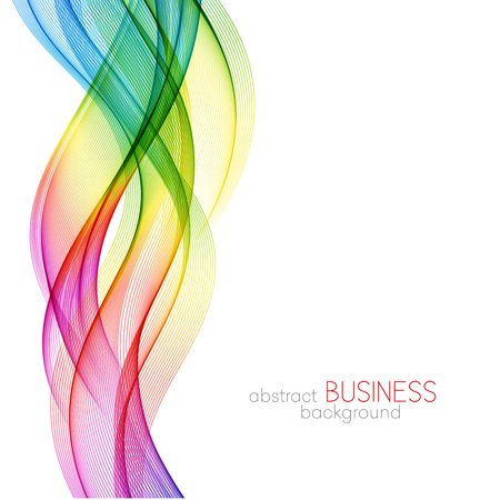 Abstract wave vector background, rainbow  waved lines for brochure, website, flyer design. Spectrum wave. Rainbow color Фото со стока - 56877101