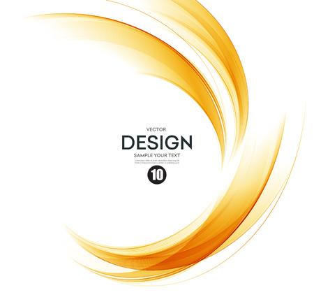 Abstract orange color wave design element. Abstract smooth color wavy vector. Curve flow orange motion illustration. Orange smoke wave lines. Orange wave Banco de Imagens - 56877102