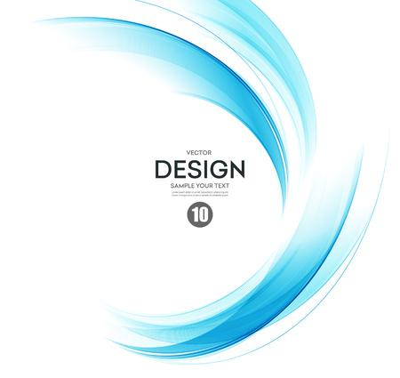抽象的なベクトルの背景、パンフレット、ウェブサイト、フライヤーのデザインの青い透明な振られる線。 青い煙の波。青色の波線の背景  イラスト・ベクター素材