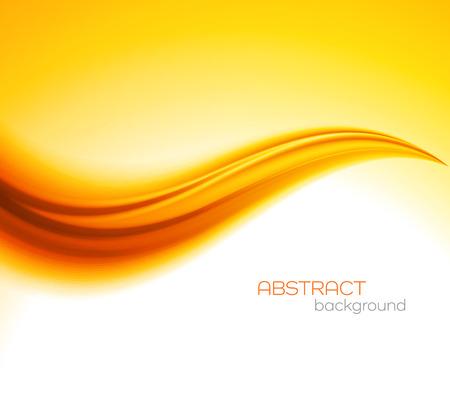 wave abstract: Abstract orange color wave design element. Abstract smooth color wavy vector. Curve flow orange motion illustration. Orange smooth wave lines. Orange wave