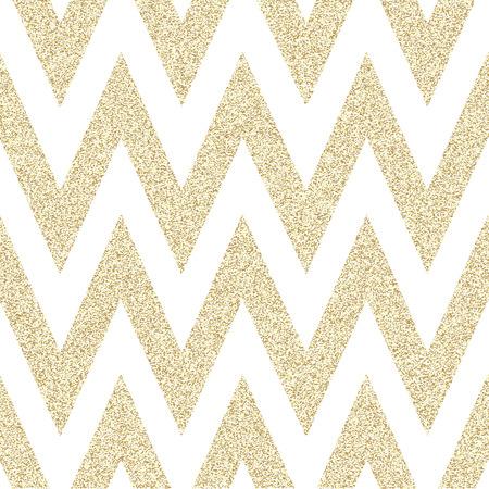 Goldmuster in Zick-Zack. Klassische Chevron nahtlose Muster. Entwurf