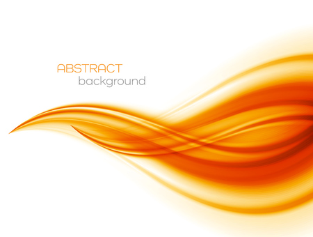 orange abstract: Abstract orange color wave design element. Abstract smooth color wavy . Curve flow orange motion illustration. Orange smooth wave lines. Orange wave