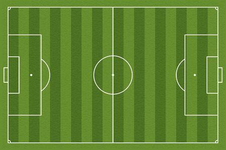 marking: Soccer field, illustration. Football field with lines and areas. Marking the football field.