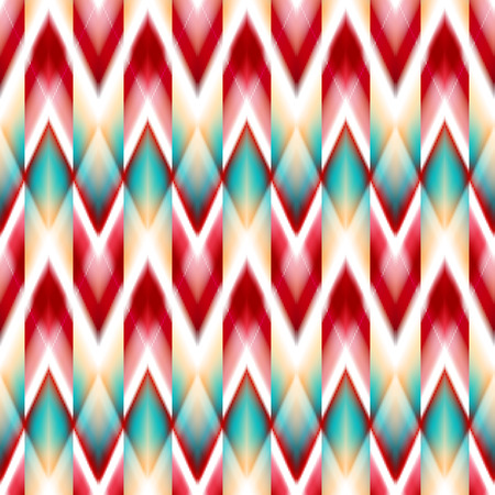 cherokee: seamless ikat ethnic pattern. Boho design. Ethnic Colored seamless zigzag patten