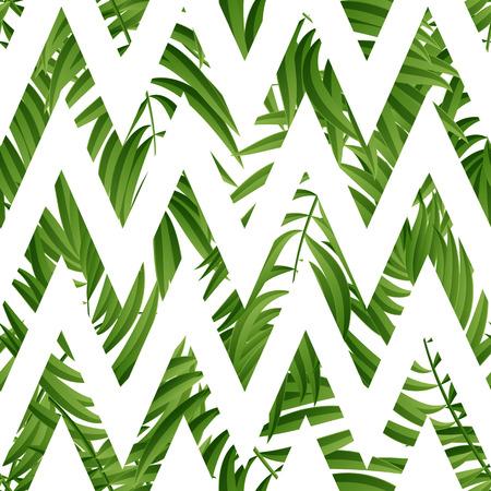 Tropical Palm leaves. Tropic palm. Tropical Palm leaf. Green tropic palm. Green palm summer tropical leaves. Tropic leaves frame.Green summer tropic palm leaves.  イラスト・ベクター素材