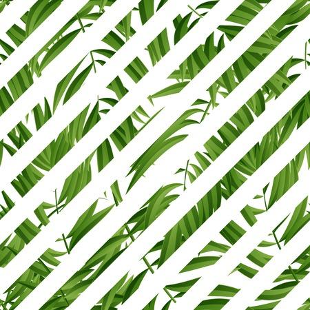 Hojas de palma tropical. palma trópico. Hoja de palma tropical. trópico de palma verde. hojas tropicales de palma verde de verano. Tropic hojas de hojas de palma trópico frame.Green verano. Ilustración de vector