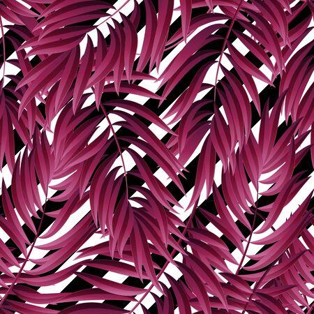 malibu: Tropical Palm leaves. Tropic palm. Tropical Palm leaf. palm summer tropical leaves. Pink Tropic leaves frame.summer tropic palm leaves. Geometric pattern. Square design tropic palm Illustration