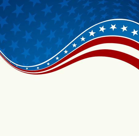 fondo patriótico de la onda . bandera de estados unidos . banner de la independencia Ilustración de vector