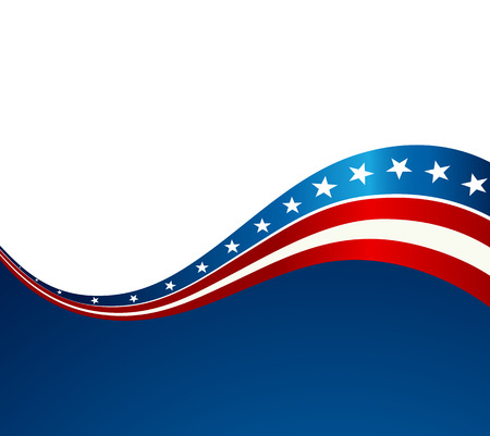 Fondo de la onda patriótico. Bandera de EE.UU. bandera Día de la Independencia