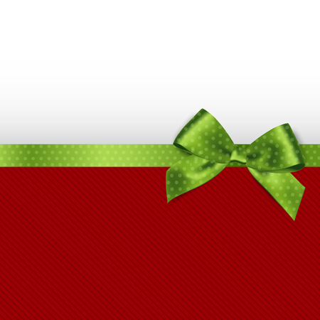 holiday background: Holiday background with green polka dots bow