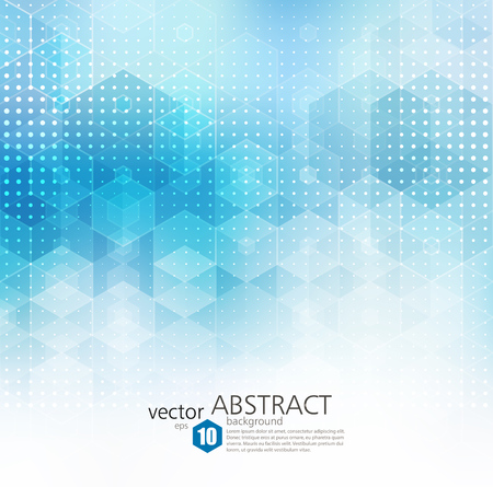 Abstract geometric background. Template brochure design. Blue hexagon shape Imagens - 65431923