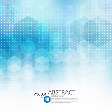Abstract geometric background. Template brochure design. Blue hexagon shape