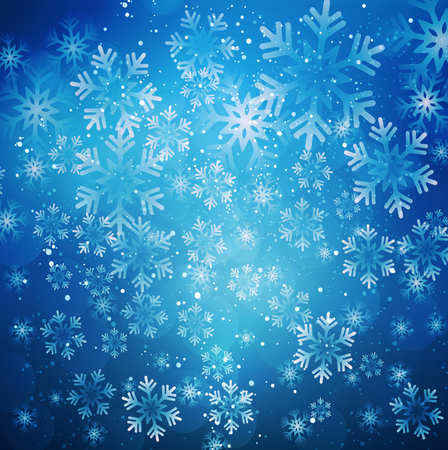 illustration Abstract Christmas snowflakes background