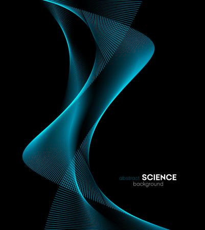élément de design d'onde de couleur abstraite