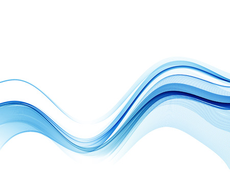wavy background: Abstract vector background, blue wavy