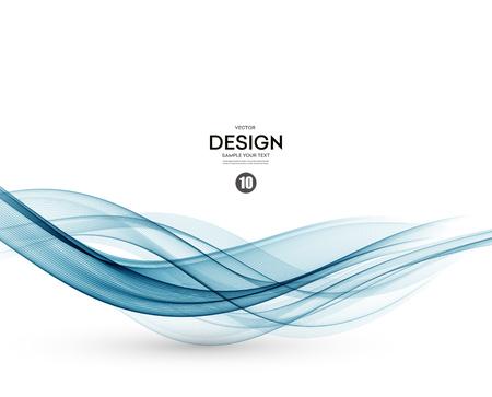 Abstract vector Hintergrund, blau wellig