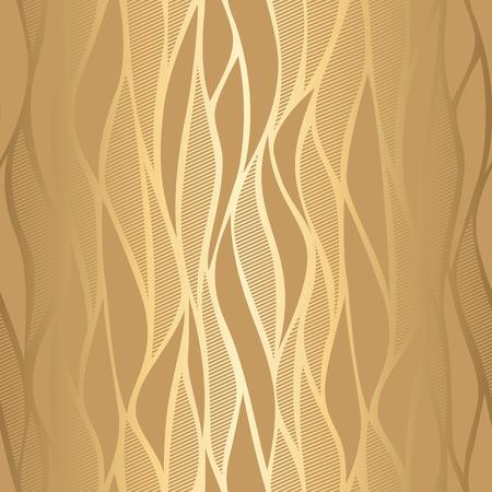 Luxury golden wave wallpaper