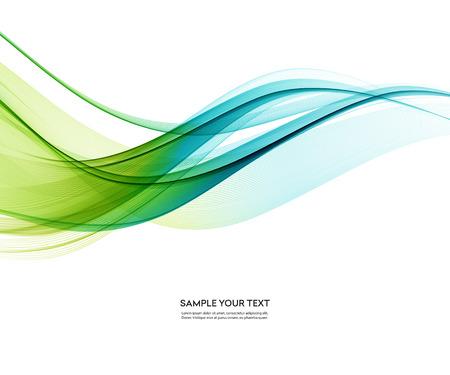 Abstracte vectorachtergrond, blauwgroene golvend Stock Illustratie
