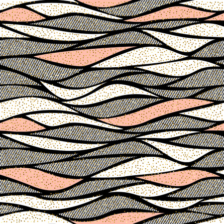 Seamless vector wave pattern for textile and decoration. Vector Illustration