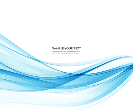 tecnology: Abstract vector background, blue wavy