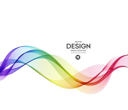Abstract vector patroon, blauw violet golvend Stock Illustratie