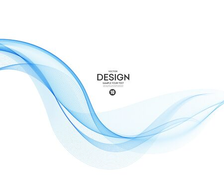 Abstract vector background, blue wavy