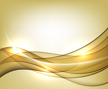 Gold wavy vector Template Abstract background with transparent curves lines. For flyer, brochure and websites design.