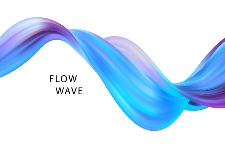 Abstract colorful vector background, color flow liquid wave for design brochure, website, flyer. EPS10 Vecteurs