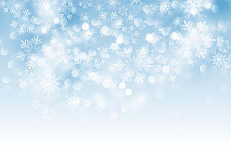 Winter card with snowflakes. Vector illustration. Holiday christmas backdrop