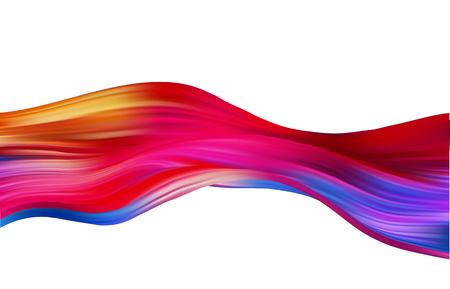 Fond de vecteur coloré abstrait, vague liquide de flux de couleur pour brochure de conception, site Web, dépliant. Flux de fluide. Peinture acrylique
