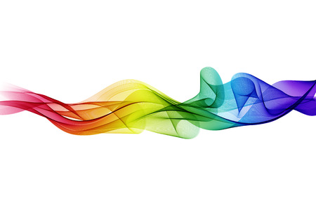 Abstract vector background, color flow waved lines for brochure, website, flyer design. Transparent smooth wave 向量圖像