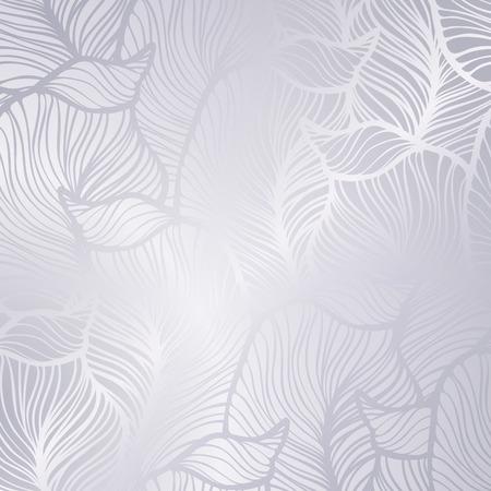 Tarjeta de plata vintage vector con patrón de Damasco transparente EPS 10 Ilustración de vector