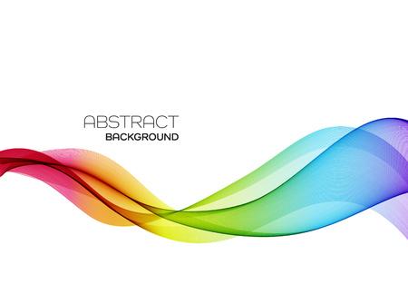 Sfondo vettoriale astratto, linee ondulate flusso di colore per brochure, sito Web, flyer design. Onda liscia trasparente