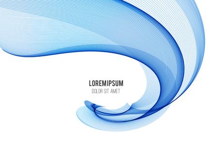 Abstract vector background, color flow waved lines for brochure, website, flyer design. Transparent smooth wave Ilustração