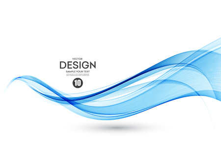 추상적 인 벡터 배경, 색상 흐름 브로셔, 웹 사이트, 전단지 디자인을위한 라인을 흔들었다. 투명한 부드러운 물결