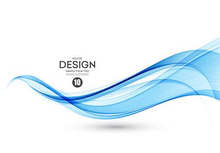 Fondo de vector abstracto, líneas onduladas de flujo de color para folleto, sitio web, diseño de volante. Onda suave transparente