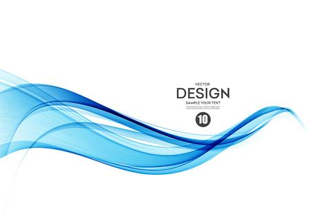 Sfondo vettoriale astratto, linee ondulate flusso di colore per brochure, sito Web, flyer design. Onda liscia trasparente Vettoriali