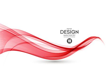 Fond de vecteur abstrait, flux de couleur agité des lignes pour brochure, site Web, conception de flyer. Onde lisse transparente