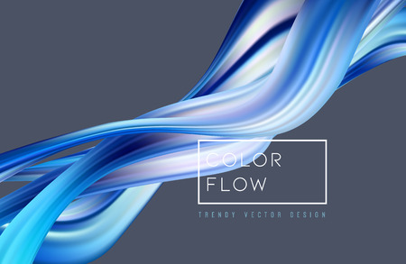 Abstract colorful vector background, color flow liquid wave for design brochure, website, flyer. Stream fluid. Acrylic paint Vetores