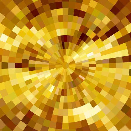 Fondo di vettore del mosaico concentrico brillante astratto. Poster di musica design Vettoriali