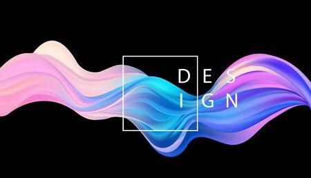 Abstracte kleurrijke vector achtergrond, kleur stroom vloeibare golf voor ontwerp brochure, website, flyer. Stroom vloeistof. Acrylverf Vector Illustratie