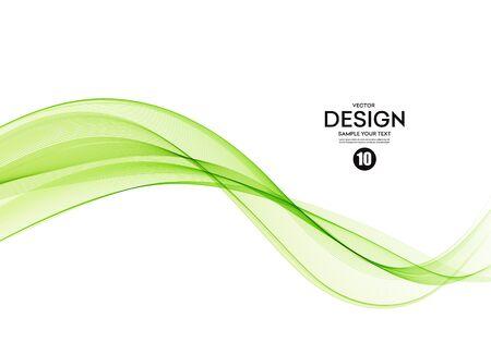 Abstract colorful vector background, color wave for design brochure, website, flyer. Vetores