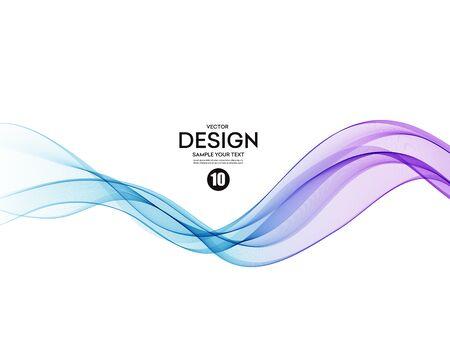 Fond de vecteur abstrait, flux de couleur agité des lignes pour brochure, site Web, conception de flyer. Onde lisse transparente Vecteurs
