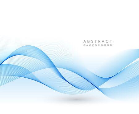 Abstract vector background, color flow waved lines for brochure, website, flyer design. Transparent smooth wave Illustration