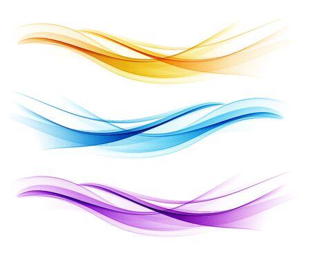 Satz des abstrakten Wellengestaltungselements der Farbe