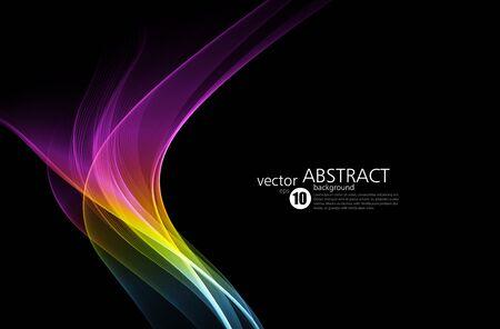 Abstract shiny color spectrum wave design element Ilustração Vetorial