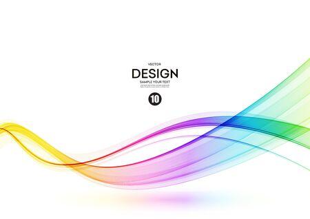 Élément de conception d'onde de spectre de couleurs brillantes abstraites Vecteurs
