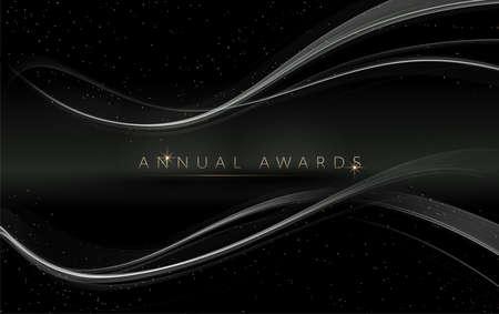 Award nomination ceremony luxury background with golden glitter sparkles