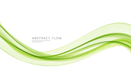 Vector green color abstract wave design element