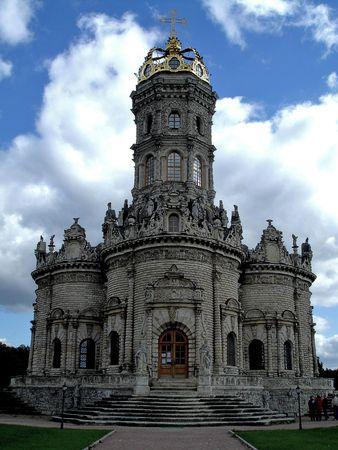 omen:  church of omen saint virgin in Podolsk, 2006 year
